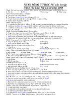 115 câu ôn tập Phần sóng cơ học