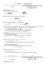 2 Đề thi thử học kì 2 – Môn Toán lớp 11