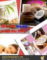 22 bí mật làm đẹp từ tinh dầu dừa