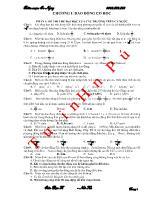 600 câu trắc nghiệm Dao động cơ học