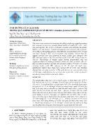 Ảnh hưởng của glucose trong quá trình bảo quản sò huyết (anadara granosa) giống