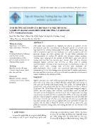 Ảnh hưởng kết hợp của độ mặn và việc bổ sung vi khuẩn bacillus subtilis đến sinh trưởng và sinh sản của artemia franciscana