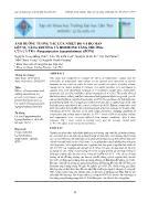 Ảnh hưởng tương tác của nhiệt độ và độ mặn lên sự tăng trưởng và hormone tăng trưởng của cá tra (pangasianodon hypophthalmus) giống