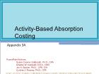 Appendix 3A: Activity-Based Absorption Costing