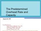 Appendix 3B: The Predetermined Overhead Rate and Capacity