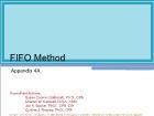Appendix 4A: FIFO Method