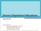 Appendix 4B: Service Department Allocations