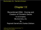 Bài giảng Biochemistry 2/e - Chapter 13: Recombinant DNA: Cloning and Creation of Chimeric Genes