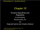 Bài giảng Biochemistry 2/e - Chapter 15: Enzyme Specificity and Regulation