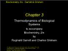 Bài giảng Biochemistry 2/e - Chapter 3: Thermodynamics of Biological Systems