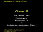 Bài giảng Biochemistry 2/e - Chapter 32: The Genetic Code