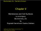 Bài giảng Biochemistry 2/e - Chapter 9: Membranes and Cell Surfaces