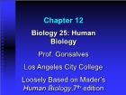Bài giảng Biology 25: Human Biology - Chapter 12