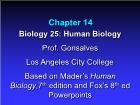 Bài giảng Biology 25: Human Biology - Chapter 14