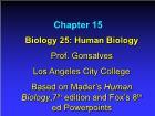 Bài giảng Biology 25: Human Biology - Chapter 15
