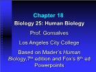 Bài giảng Biology 25: Human Biology - Chapter 18