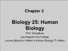 Bài giảng Biology 25: Human Biology - Chapter 2: Chemicals and the body