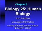 Bài giảng Biology 25: Human Biology - Chapter 6