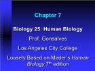 Bài giảng Biology 25: Human Biology - Chapter 7