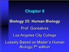 Bài giảng Biology 25: Human Biology - Chapter 8