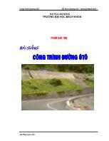Bài giảng Công trình đường ôtô