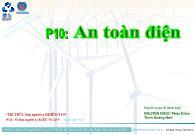 Bài giảng Điện công nghiệp - P10: An toàn điện