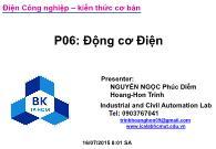 Bài giảng Điện công nghiệp - P6: Động cơ điện