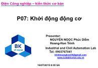 Bài giảng Điện công nghiệp - P7: Khởi động động cơ