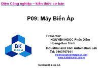 Bài giảng Điện công nghiệp - P9: Máy biến áp