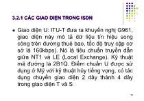 Bài giảng Hệ thống viễn thông - Chương 3: Mạng tích hợp số đa dịch vụ ISDN (P2)