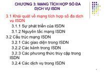 Bài giảng Hệ thống viễn thông - Chương 3: Mạng tích hợp số đa dịch vụ ISDN (P1)