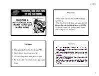 Bài giảng Kế toán ngân hàng - Chương 4: Kế toán dịch vụ thanh toán qua ngân hàng
