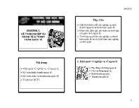 Bài giảng Kế toán tài chính - Chương 7: Kế toán nghiệp vụ ngoại tệ & thanh toán quốc tế