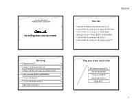 Bài giảng Kế toán tài chính - Chương 8: Hệ thống báo cáo tài chính