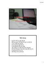 Bài giảng Quản lý dự án xây dựng - Chương 5: Tiến độ của dự án