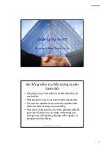 Bài giảng Quản lý dự án xây dựng - Chương 8: Hoàn thành dự án