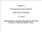 Bài giảng Thermodynamics: An Engineering Approach, 8th edition - Chapter 12: Thermodynamic Property Relations