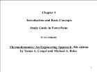 Bài giảng Thermodynamics: An Engineering Approach, 8th edition - Chapter 1: Introduction and Basic Concepts