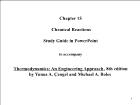 Bài giảng Thermodynamics: An Engineering Approach, 8th edition - Chapter 15: Chemical Reactions