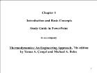 Bài giảng Thermodynamics: An Engineering Approach - Chapter 1: Introduction and Basic Concepts
