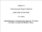 Bài giảng Thermodynamics: An Engineering Approach - Chapter 12: Thermodynamic Property Relations