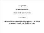 Bài giảng Thermodynamics: An Engineering Approach - Chapter 17: Compressible Flow