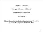 Bài giảng Thermodynamics: An Engineering Approach - Chapter 7.2: Entropy: A Measure of Disorder