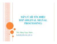 Bài giảng Xử lý số tín hiệu DSP - Chương 1: Lấy mẫu & khôi phục tín hiệu