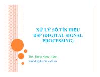 Bài giảng Xử lý số tín hiệu DSP - Chương 3: Hệ thống rời rạc thời gian