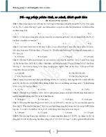 Bài tập Phương pháp phân tích, so sánh, khái quát hóa (có đáp án)