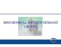 Biochemical oxygen demand ( B O D )