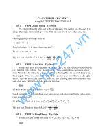 Các bài tổ hợp – xác suất trong đề thi thử Tây Ninh 2015