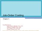 Chapter 3: Job-Order Costing