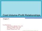 Chapter 5: Cost-Volume-Profit Relationships